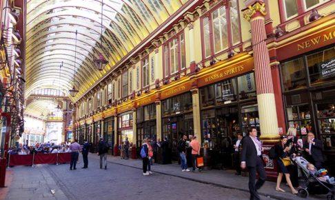 シティ・オブ・ロンドンの美しいアーケード、レドンホール・マーケット